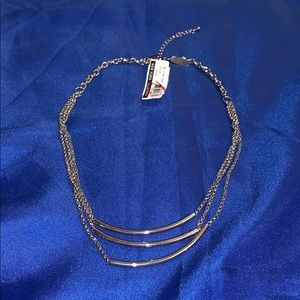 New York & Company Silver Layered Necklace
